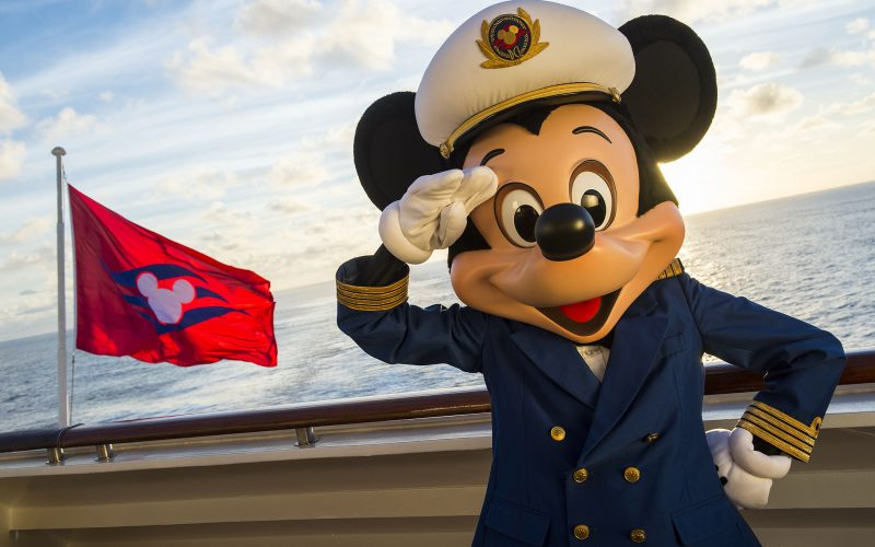 The Disney Magic crew wouldn't be complete without Captain Mickey, who greet guests onboard the ship. Special visits from favorite Disney characters are guaranteed to delight the entire family every day on the Disney Magic. (Matt Stroshane, photographer)