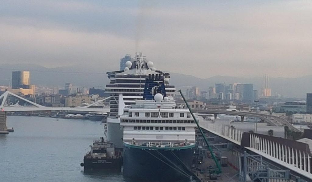 Cruise schepen in Barcellona